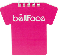 ノベルティ:Tシャツ型リングメモ帳